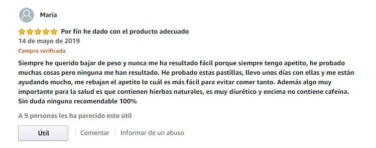 Comentario pastillas keto fiables en Amazon
