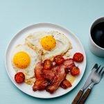 Desayuno Keto - Huevos con Bacon