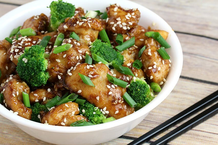 Pollo con Sésamo - Dieta keto